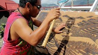Pirograbado con lupa de Jordan Mang-Osan