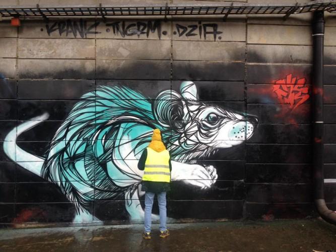 graffiti de rata en belgica