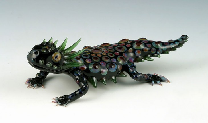 escultura vidrio soplado scott bisson gecko