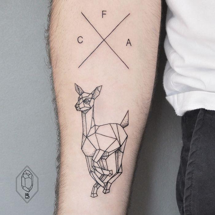 tatuaje cervatillo 3d