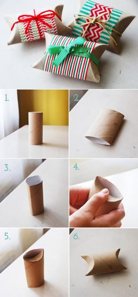 cajitas hechas con tubo de papel higienico