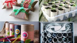 ideas para reciclar tubos de papel higienico