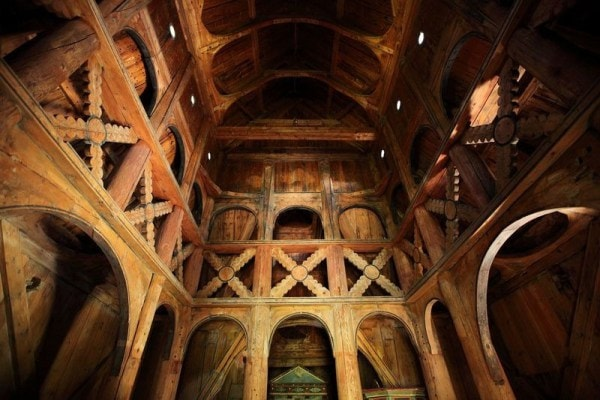 entramado de madera del borgund