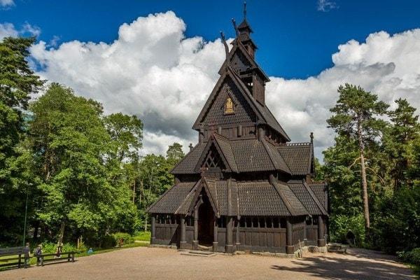 iglesias de madera de Noruega gol stave