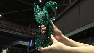 construir dragón cristal vidrio